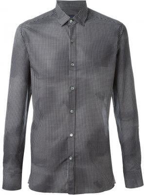 Рубашка с мелким узором Lanvin. Цвет: чёрный