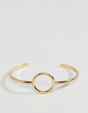 Orelia Разомкнутый браслет. Цвет: золотой