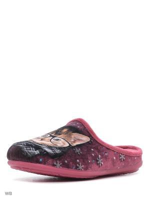 Тапочки Mon Ami. Цвет: малиновый, розовый