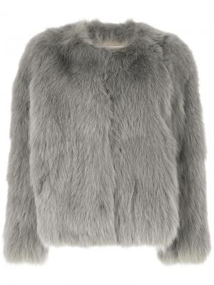 Куртка на пуговицах Sprung Frères. Цвет: серый