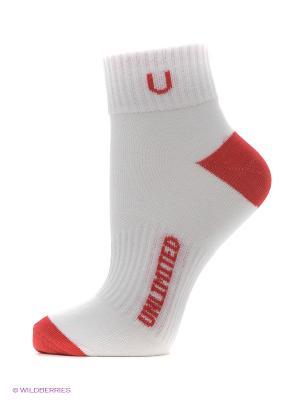 Носки спортивные 5 пар Unlimited. Цвет: белый, красный