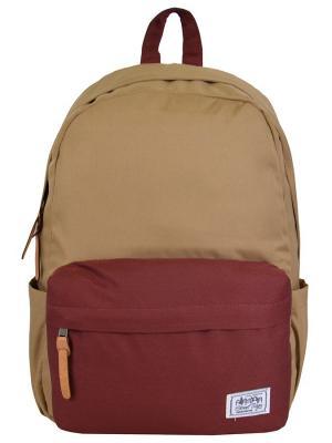 Рюкзак Street Bags. Цвет: бордовый, бежевый