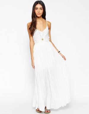 Meghan Fabulous Платье макси Wendy Moira. Цвет: слоновая кость