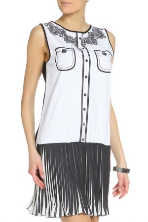 Платье повседневное с рисунком Denny Rose. Цвет: черный, белый