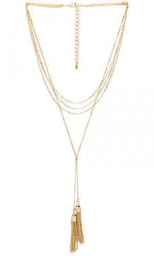 Ожерелье в форме лассо heartbreaker 8 Other Reasons. Цвет: металлический золотой