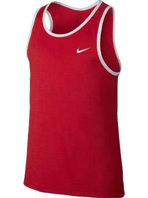Майка спортивная M NK TOP SL CROSSOVER Nike. Цвет: красный