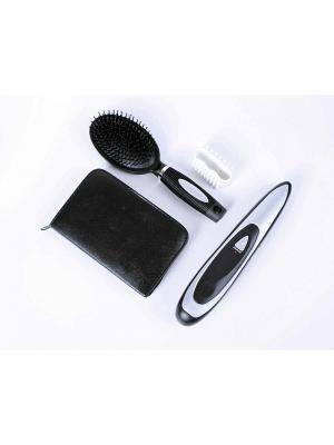 Набор расчёсок МАГИЯ РОСТА + маникюрный BRADEX. Цвет: черный