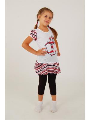 Комплект для девочек Милослава. Цвет: белый, черный, красный