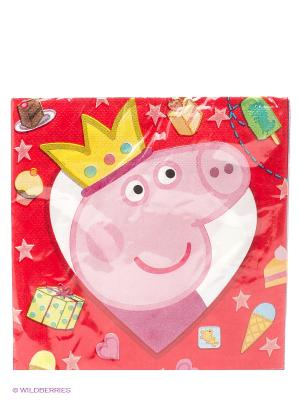 Салфетки Свинка Пеппа 20шт. Peppa Pig. Цвет: розовый, желтый, голубой