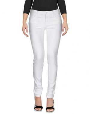 Джинсовые брюки MASON'S. Цвет: белый