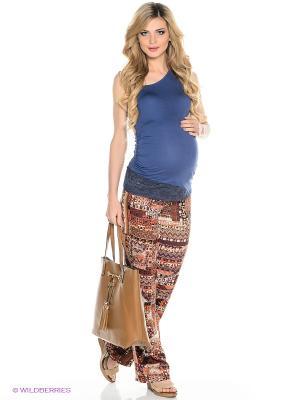 Брюки для беременных ФЭСТ. Цвет: коричневый