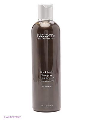 Шампунь с черной минеральной грязью и минералами Мертвого моря Naomi Dead Sea Cosmetics. Цвет: черный