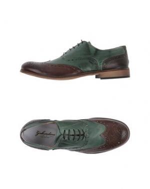 Обувь на шнурках GABARDINE. Цвет: зеленый