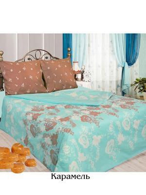 Постельное белье 2 сп. простыня на резинке Sova and Javoronok. Цвет: коричневый, голубой, белый