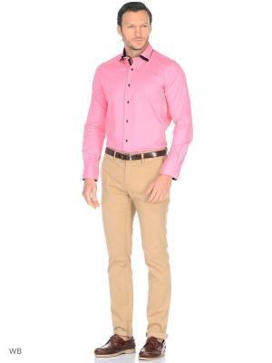 Рубашка Fayzoff-SA. Цвет: коралловый