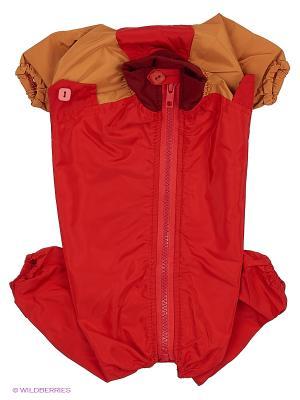 Комбинезон холодный на шелке (Японский хин), девочка ТУЗИК. Цвет: красный, золотистый