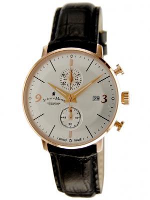 Часы Jacques du Manoir. Цвет: хаки, серый