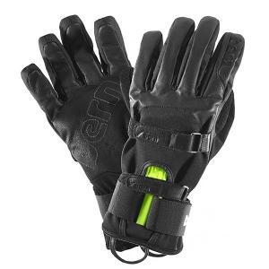Перчатки сноубордические  Black Leather Gloves W Removable Wristguard Bern. Цвет: черный