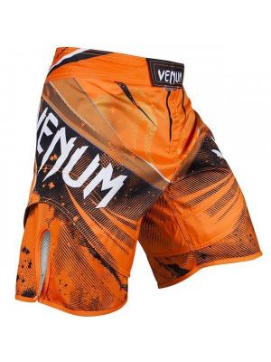 Шорты ММА Venum Galactic Fightshorts Neo Orange. Цвет: оранжевый