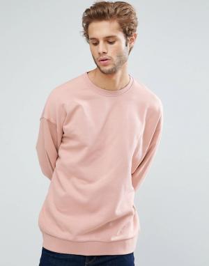 ASOS Розовый оверсайз-свитшот. Цвет: розовый