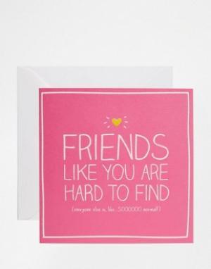 Happy Jackson Открытка Friends Like You. Цвет: мульти