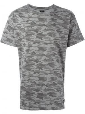 Камуфляжная футболка Browne 65 Les (Art)Ists. Цвет: серый