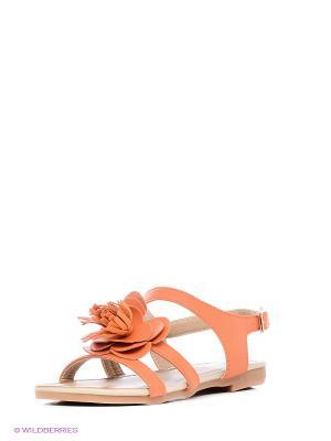 Сандалии Vitacci. Цвет: оранжевый