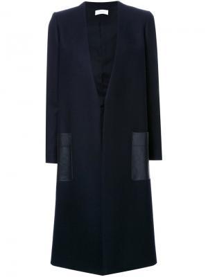 Пальто As W/CA Astraet. Цвет: синий