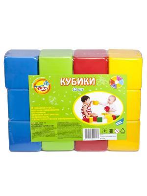 Кубики, 12 шт MOMMY LOVE. Цвет: синий, зеленый, красный
