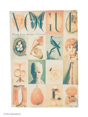 Обложка для паспорта Mitya Veselkov. Цвет: кремовый, серо-зеленый, персиковый