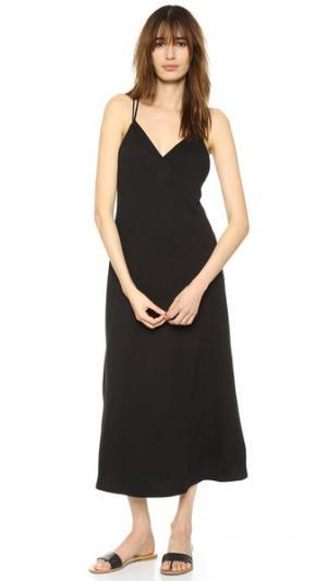 Платье до щиколоток с перекрещенной отделкой на спине Lanston. Цвет: голубой