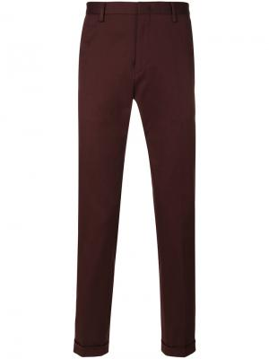 Классические брюки чинос Paul Smith. Цвет: розовый и фиолетовый