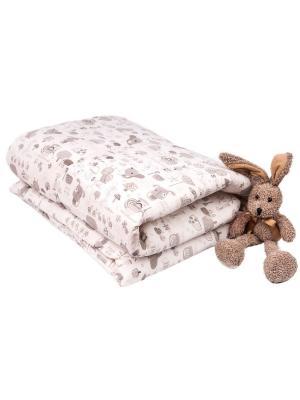 Одеяло с пододеяльником 110х140 Улитки DAISY. Цвет: темно-бежевый, молочный