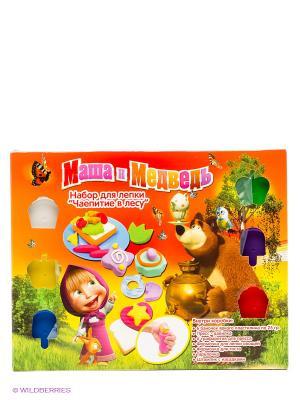 Набор пластилина Чаепитие в лесу Маша и медведь. Цвет: оранжевый