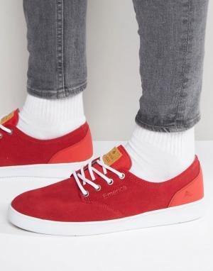 Emerica Кроссовки на шнуровке Romero. Цвет: красный