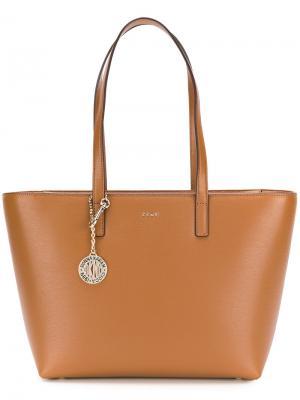 Сумка-шоппер Donna Karan. Цвет: коричневый