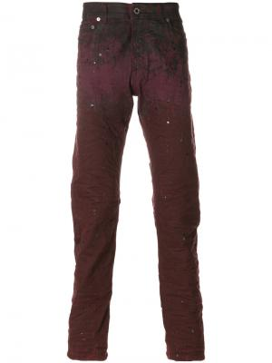 Splatter effect jeans Diesel Black Gold. Цвет: розовый и фиолетовый