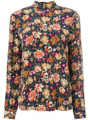 Рубашка с цветочным принтом Vanessa Bruno. Цвет: многоцветный