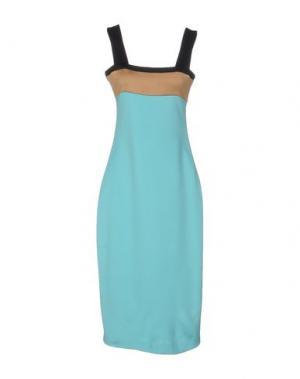 Платье длиной 3/4 FAUSTO PUGLISI. Цвет: бирюзовый
