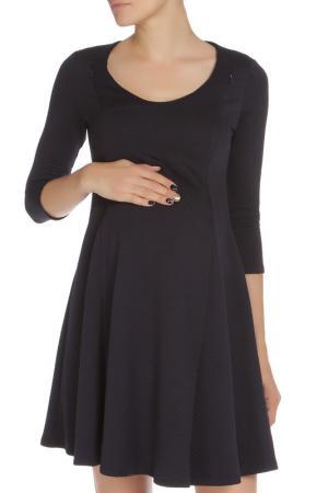 Платье, беременным и кормящим Nuova Vita. Цвет: синий