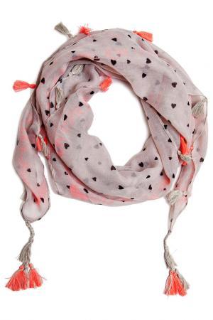 Платок Kameo Bis. Цвет: серый, розовый, черный