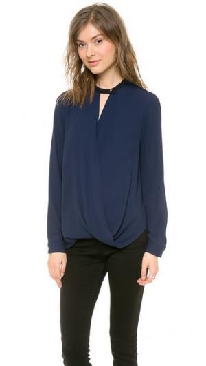 Блуза с длинными рукавами And B. Цвет: ночное небо