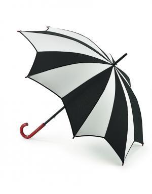 Зонт-трость Арлекино  by Fulton Lulu Guinness. Цвет: черно-белый