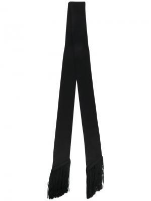 Узкий шарф с бахромой Racil. Цвет: чёрный
