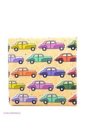 Кошелек Цветные машинки Mitya Veselkov. Цвет: желтый, синий, фиолетовый, красный