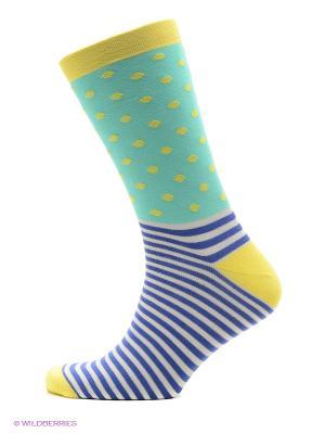 Носки DOCTOR E. Цвет: светло-зеленый, желтый, синий