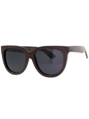 Очки TM0039-G-14-B BAMBOO TEHMODA. Цвет: темно-коричневый
