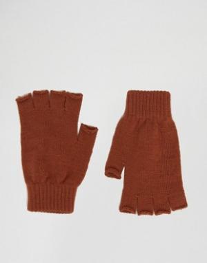 ASOS Перчатки без пальцев. Цвет: оранжевый