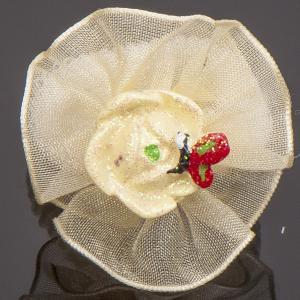 Резинки Цветок, арт. 14-001 Бусики-Колечки. Цвет: молочный