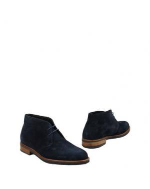 Полусапоги и высокие ботинки THOMPSON. Цвет: синий